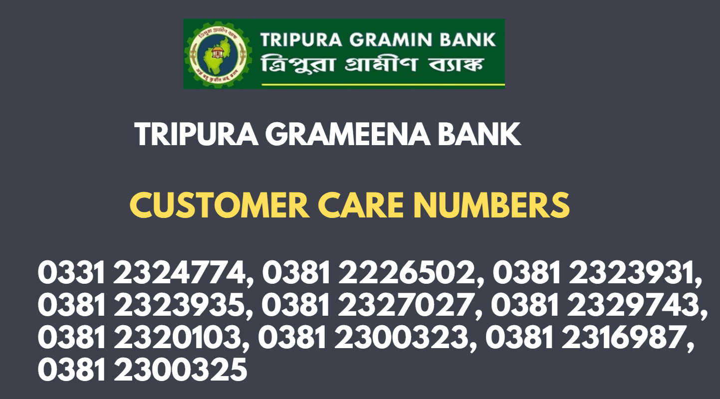 Tripura Gramin bank balance check toll free number