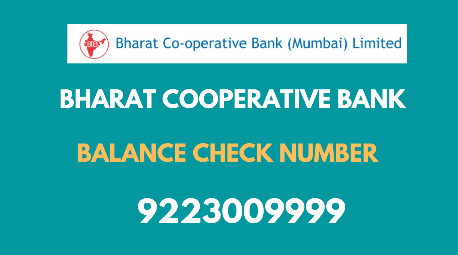 Bharat Cooperative Bank Missed Call Balance Check Number